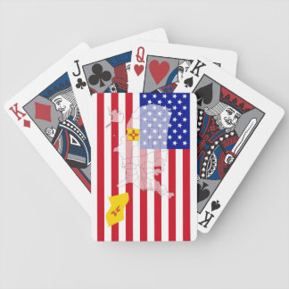 New Mexico-USA State flag map playing cards