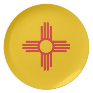 new mexico usa state flag plate america