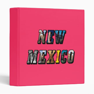 New Mexico, USA Text 3 Ring Binder