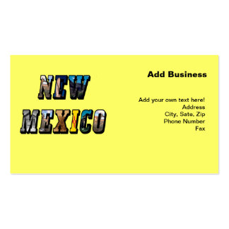 New Mexico, USA Text Double-Sided Standard Business Cards (Pack Of 100)
