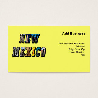 New Mexico, USA Text Business Card