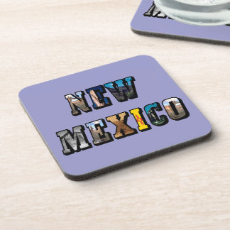 New Mexico, USA Text Drink Coaster