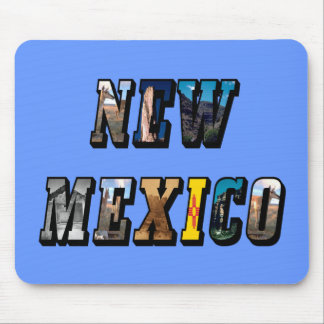 New Mexico, USA Text Mouse Pad