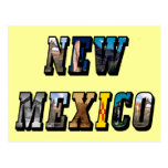 New Mexico, USA Text Postcard