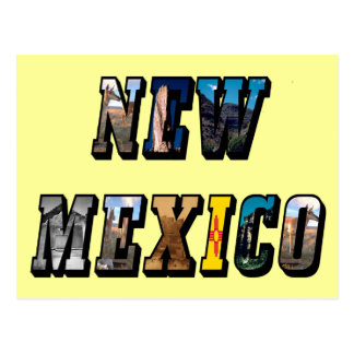 New Mexico, USA Text Post Card