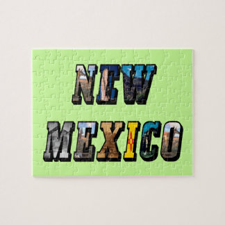 New Mexico, USA Text Puzzle Tin