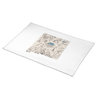 New Mexico Vintage Picture Map Cloth Placemat