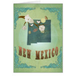 New Mexico Vintage State Map – Green Cards