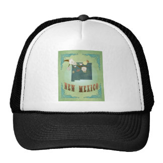 New Mexico Vintage State Map – Green Trucker Hat
