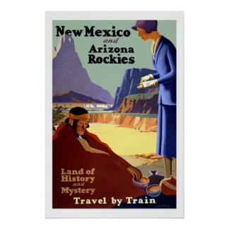New Mexico Vintage Travel Poster