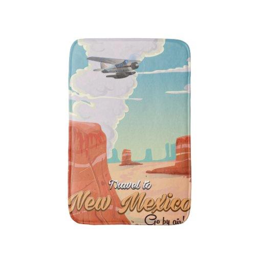 New Mexico Vintage Travel Poster Print Bath Mat Zazzle