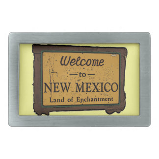 New Mexico welcome sign belt buckle