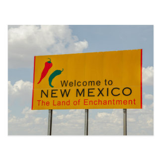 New Mexico Welcome Sign - Land of Enchantment Postcard