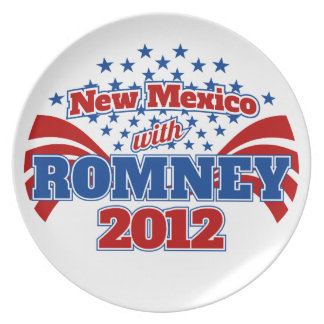 New Mexico with Romney 2012 Party Plate