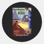 New México y Arizona Rockies Pegatina Redonda