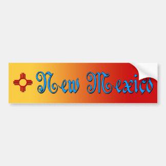 New México y Zia Pegatina Para Auto