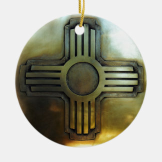 New Mexico Zia Ceramic Ornament