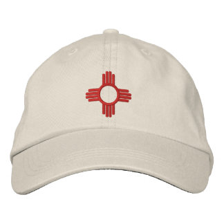 New Mexico Zia Embroidered Baseball Hat