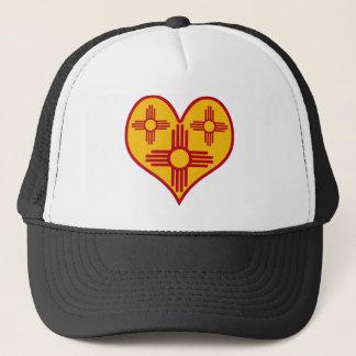 New Mexico Zia Heart Trucker Hat