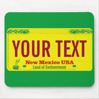 New Mexico zia license plate mouse pad