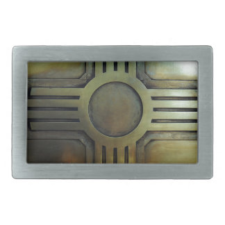 New Mexico Zia Rectangular Belt Buckle