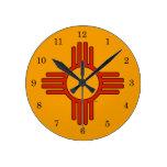 New México Zia Reloj De Pared