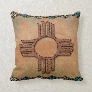 New México Zia (sol) Cojín