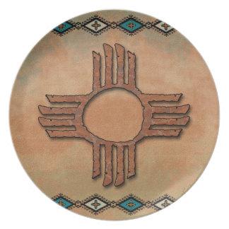 New México Zia (sol) Plato De Cena