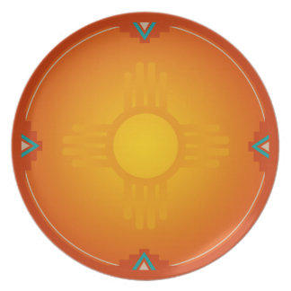 New Mexico Zia (sun) Party Plates