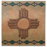 New Mexico Zia (sun) Printed Napkin