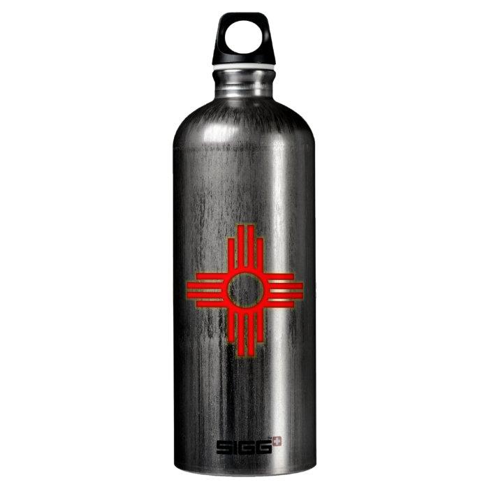 New Mexico Zia Sun Symbol Aluminum Water Bottle
