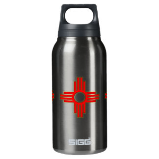 New Mexico Zia Sun Symbol Insulated Water Bottle