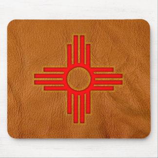 New Mexico Zia Sun Symbol Mousepads