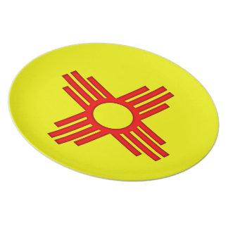 New Mexico Zia Sun Symbol Dinner Plate