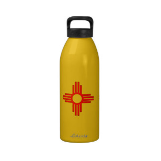 New Mexico Zia Sun Symbol Water Bottles