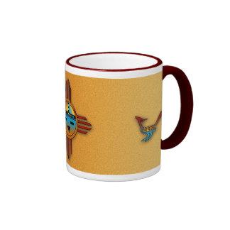 New Mexico Zia Sunface Coffee Mugs