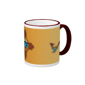 New Mexico Zia Sunface Coffee Mugs