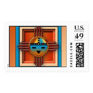 New Mexico Zia SunFace Postage Stamp