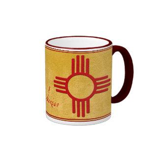 New México Zia Taza A Dos Colores
