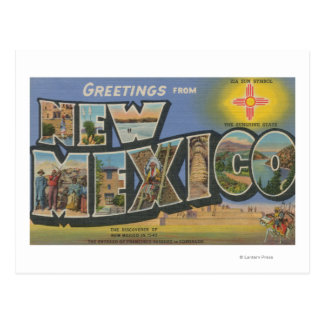 New MexicoLarge Letter ScenesNew Mexico Post Card