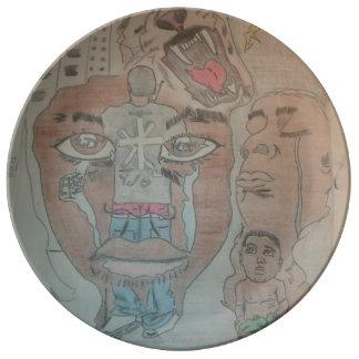 New Millennium Ethos male Porcelain Plate