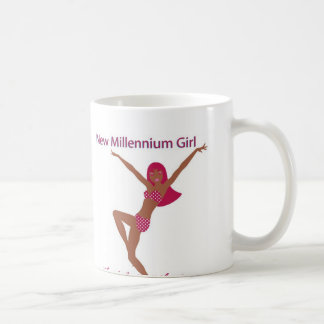 New Millennium Girl Brown Coffee Mug
