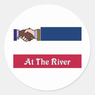 New Mississippi v2 At The River 2 Classic Round Sticker