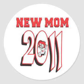 New Mom 2011 Classic Round Sticker