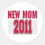 New Mom 2011 Round Sticker