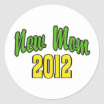 New Mom 2012 Classic Round Sticker