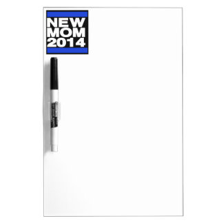 New Mom 2014 Blue Dry-Erase Board