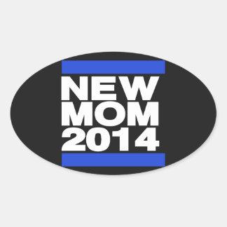New Mom 2014 Blue Oval Sticker
