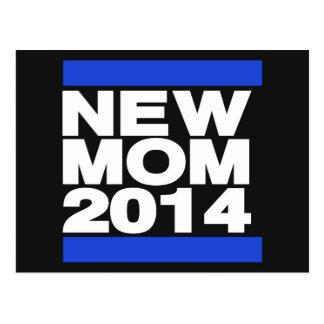 New Mom 2014 Blue Postcard