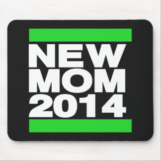New Mom 2014 Green Mouse Pad